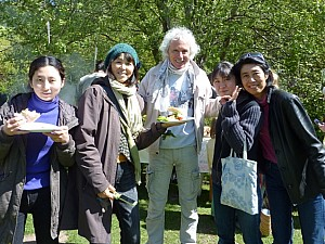 With Japanese friends at nearby Moray Steiner School