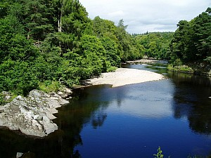 Findhorn River in summer